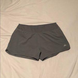 L grey adidas shorts